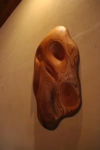 木のオブジェ「杢動3」